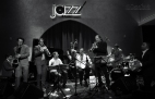 Jam night at Jazz at Lincoln Center Doha with Dominick Farinacci , Brian Carter Quartet and two guest percussionists