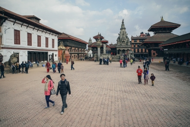 A religious center, Bhaktapur was founded in 12th cent. by King Ananda Malla as Khwopa, the capital of the Newar Malla kingdom.