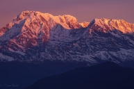 Sunrise over the Himalayas