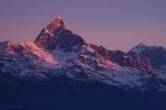 Sunrise over the Himalayas